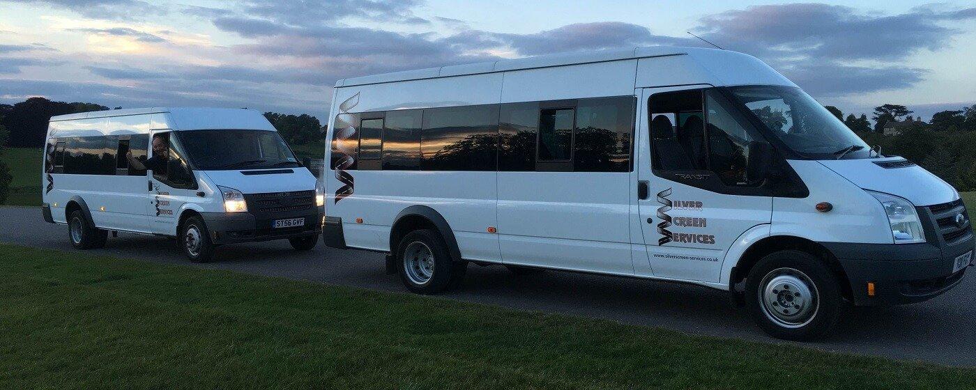 Two minibuses