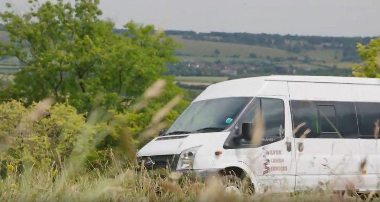 A Silver Screen Services Minibus